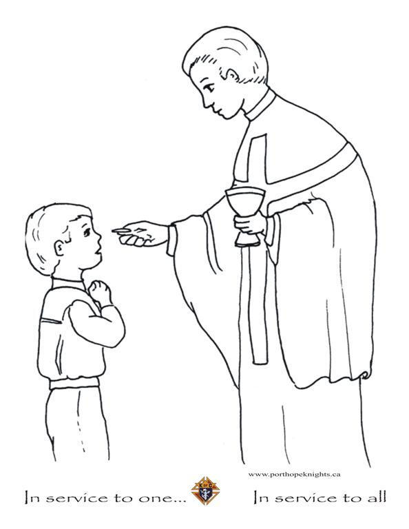 Holy Communion Coloring Pages Www.robertdee.org