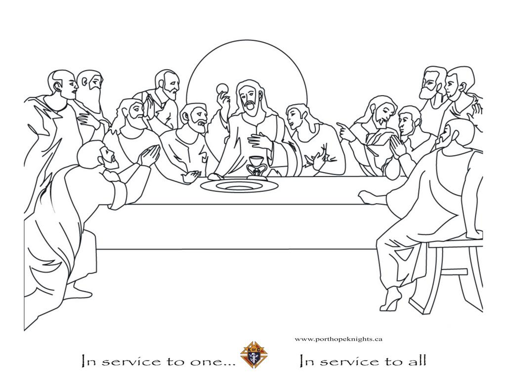 Printable coloring pages last supper - The Last Supper The Last Supper