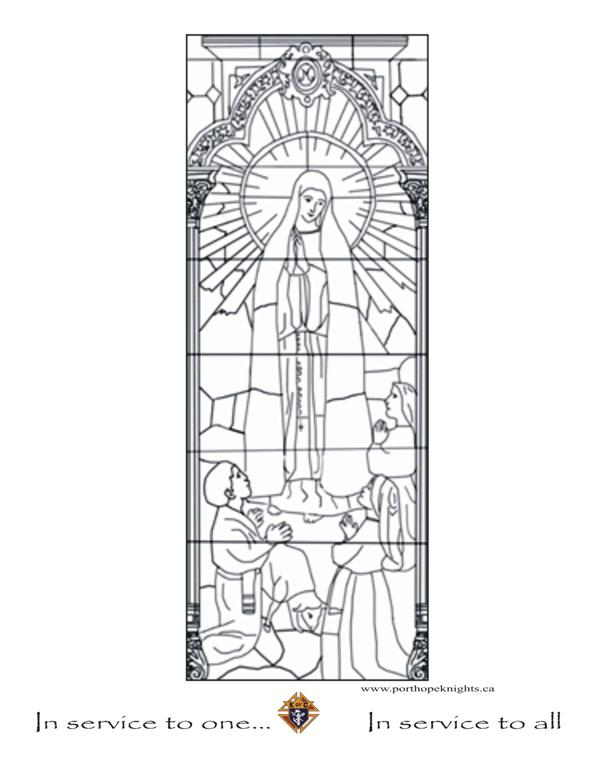 port hope knights colouring pages our lady of fatima coloring page