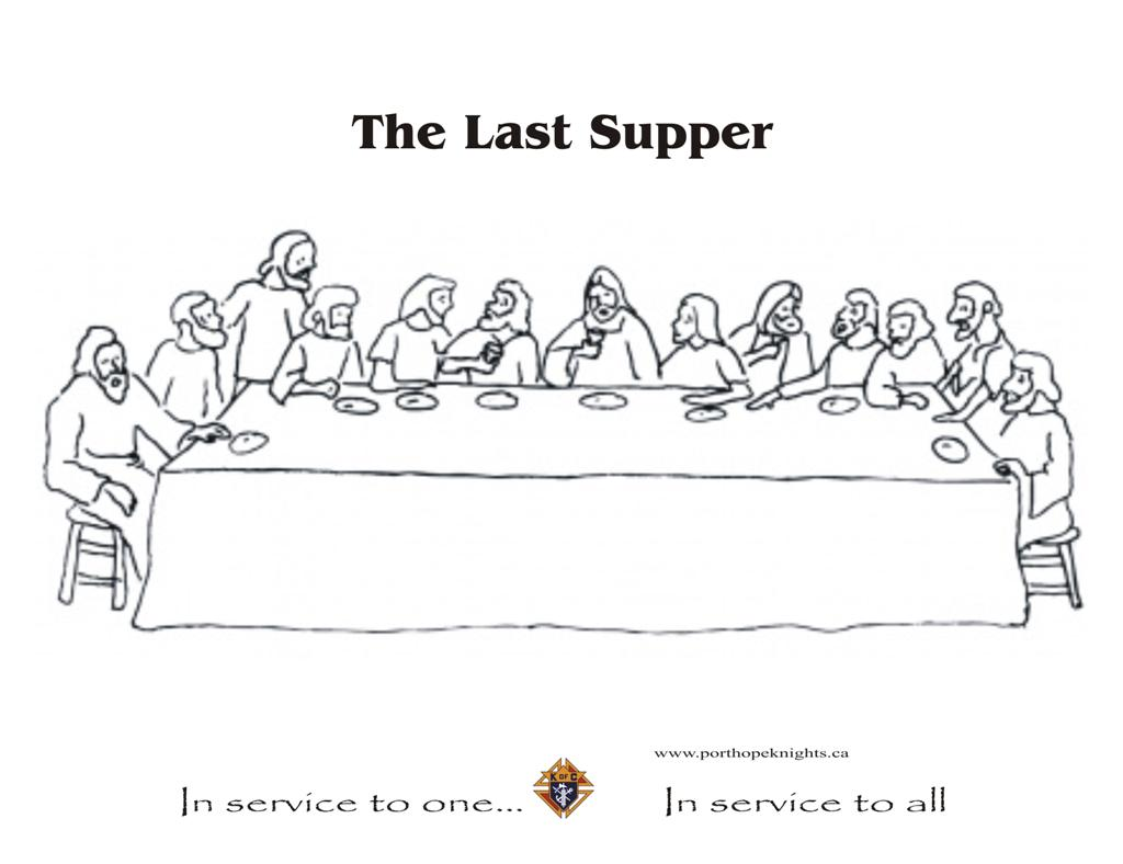 Printable coloring pages last supper - In Service To One