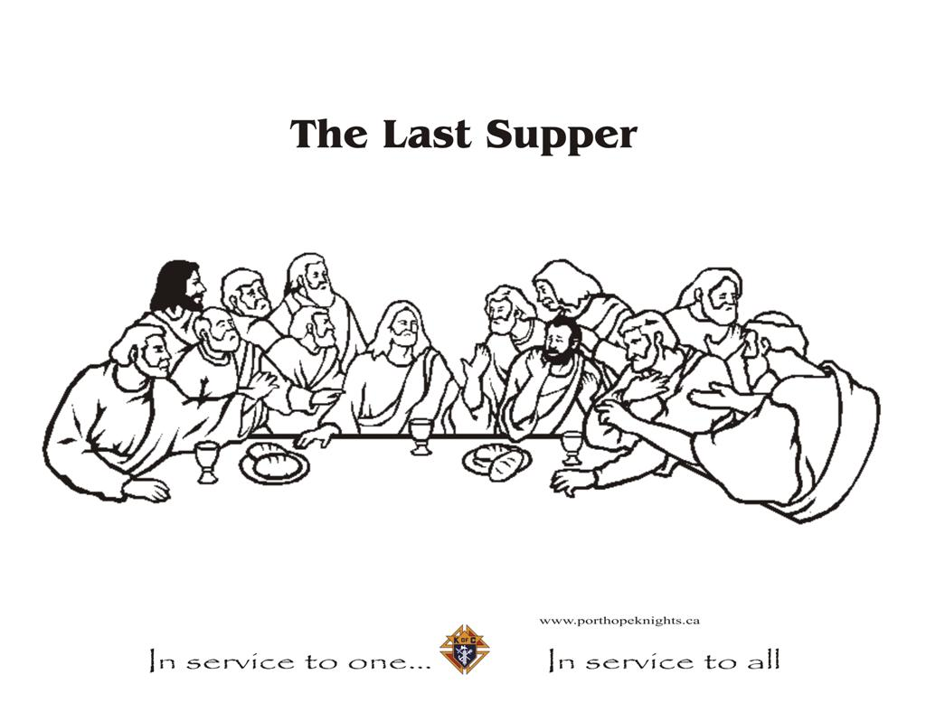 lords supper coloring pages - photo#3